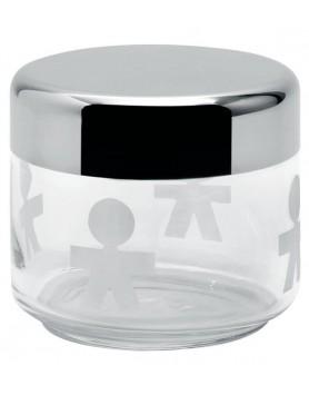 Alessi Girotondo voorraadpot glas / RVS 500ml