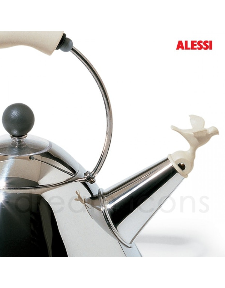 alessi michael graves design fluitketel rvs wit. Black Bedroom Furniture Sets. Home Design Ideas