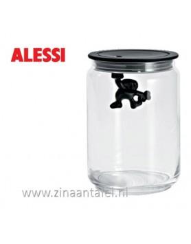 Alessi Gianni voorraadbus zwart 90CL 15cm