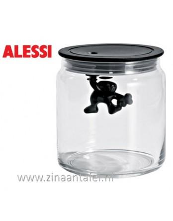 Alessi Gianni voorraadbus zwart 70CL 12cm