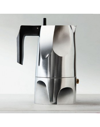 Alessi Ossidiana espresso koffiemaker 6 kops