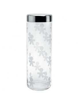 Alessi Girotondo voorraadpot glas / RVS 2.25L