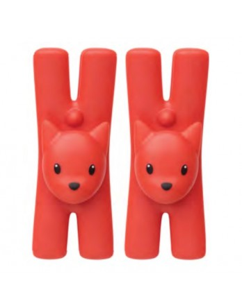 Alessi Lampo klem / knijper kat met magneet rood