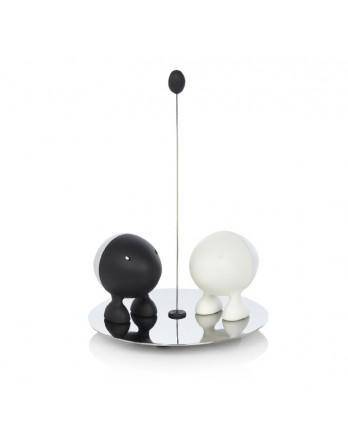 Alessi Lilliput peper / zout set - zwart / wit