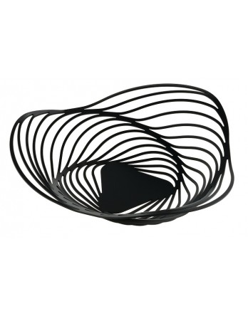 Alessi Trinity schaal - fruitschaal 43cm zwart