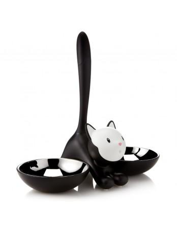 Alessi Tigrito kattenvoerbak - zwart