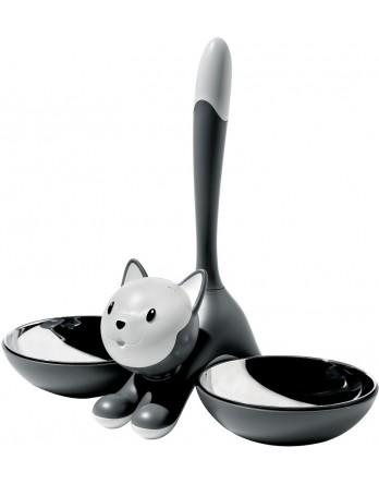 Alessi Tigrito kattenvoerbak - grijs