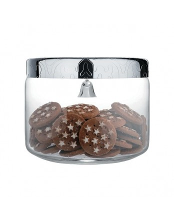 Alessi Dressed - biscuit box / koekjes pot met bel