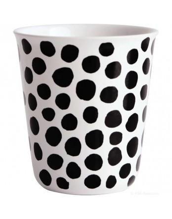 ASA Coppetta espresso mok zwart / wit - dots