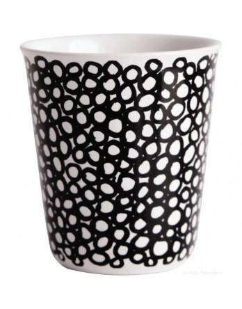ASA Coppetta espresso mok zwart / wit - cirkels