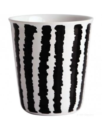 ASA Coppetta espresso mok zwart / wit - strepen