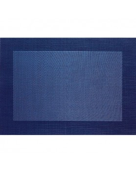 ASA Placemat fijn geweven met rand - PVC - blauw