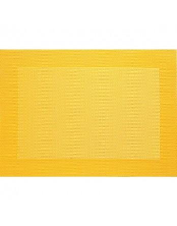 ASA Placemat - fijn geweven met rand - PVC - 33x46 geel