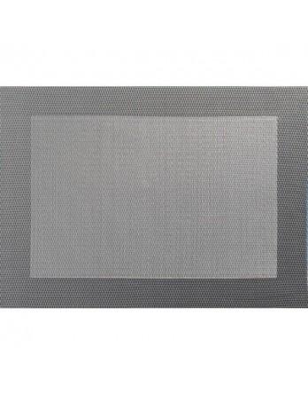 ASA Placemat - fijn geweven met rand - PVC - 33x46 grijs