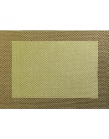 ASA Placemat - fijn geweven met rand - PVC - 33x46 olijf