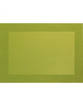 ASA Placemat - fijn geweven met rand - PVC - 33x46 kiwi