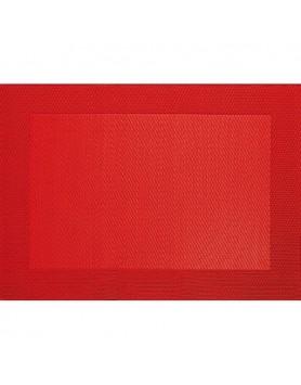 ASA Placemat fijn geweven met rand - PVC - rood