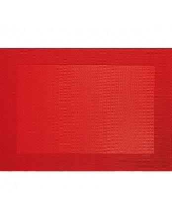 ASA Placemat - fijn geweven met rand - PVC - 33x46 rood