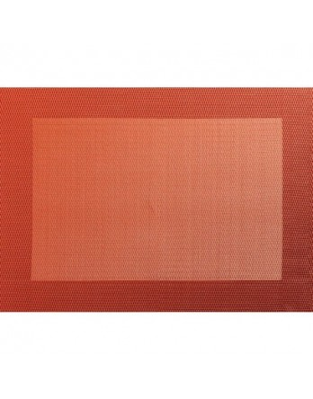 ASA Placemat - fijn geweven rand PVC 33x46 terracotta