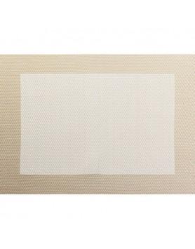 ASA Placemat fijn geweven met rand PVC - beige