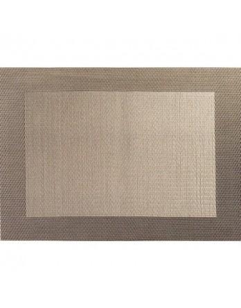 ASA Placemat - fijn geweven met rand - PVC 33x46 brons