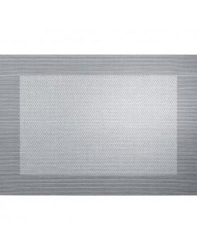 ASA Placemat fijn geweven met rand - PVC - zilver