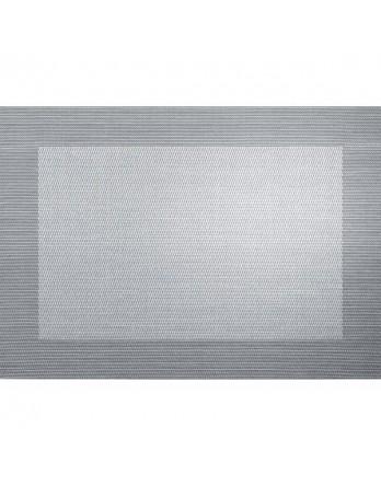 ASA Placemat - fijn geweven met rand - PVC - zilver