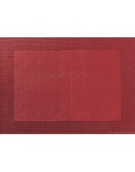 ASA Placemat fijn geweven met rand - PVC - donkerrood
