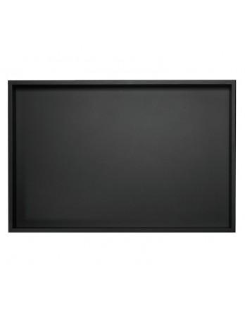 ASA Dienblad hout zwart met rand 24.5 x 32.5