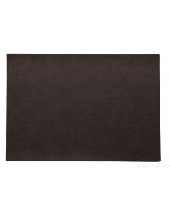 ASA Placemat imitatieleer black coffee