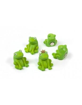Trendform magneet - magnet frog - kikker - 5 stuks [st:3]