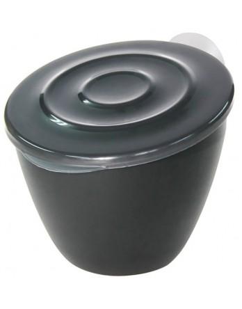 Hachiman Rolle afvalbakje gootsteen - zwart