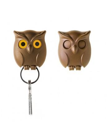 Qualy Night Owl - sleutelhanger - bruin