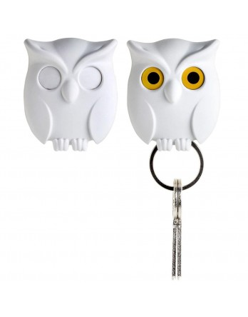 Qualy Night Owl - sleutelhanger - wit