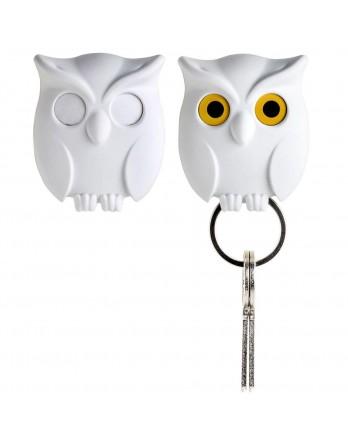 Qualy Night Owl - sleutelhanger - wit