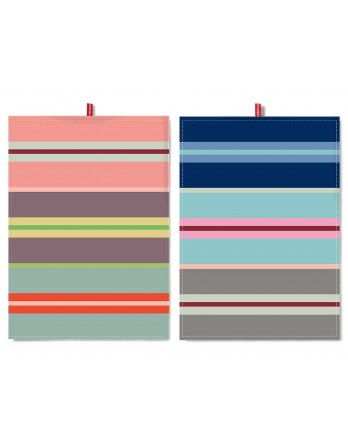 Remember theedoek - set 2 stuks 70 x 50 - stripes