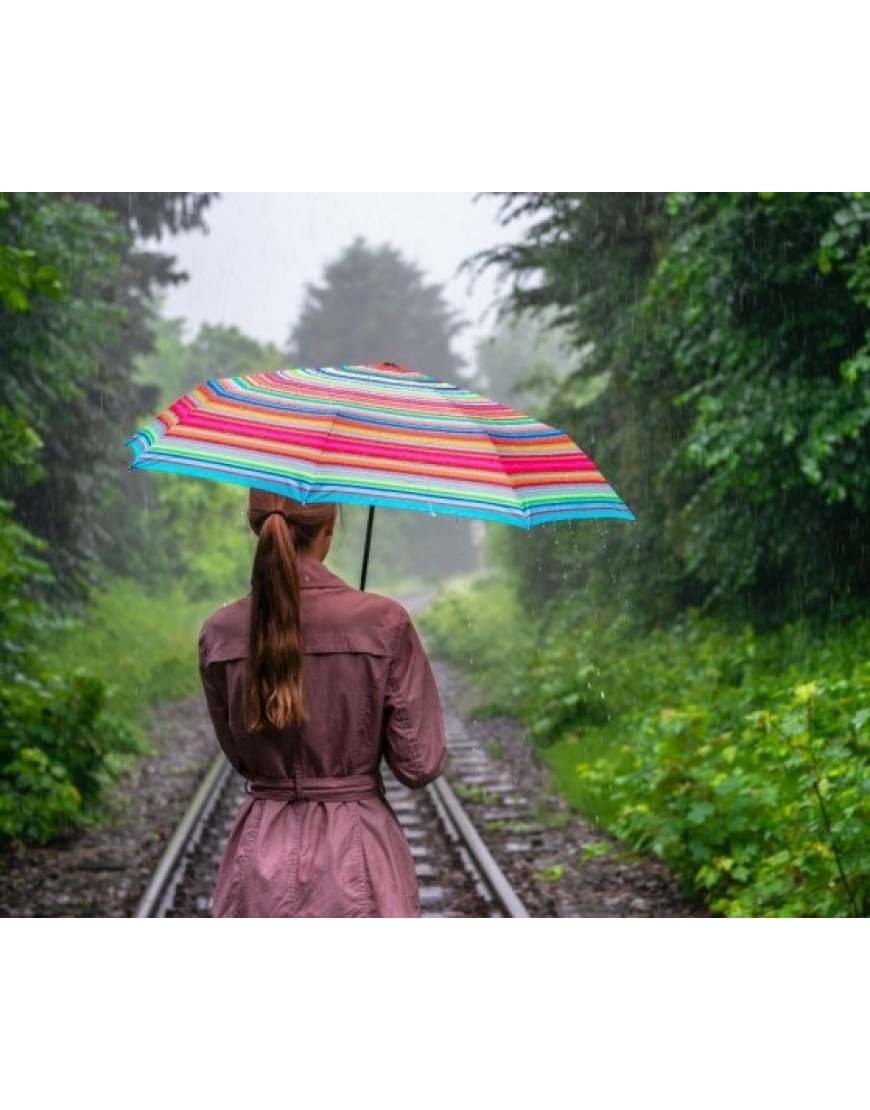 Paraplu Vouwen Van Theedoeken.Remember Opvouwbare Paraplu Pocket Stripes