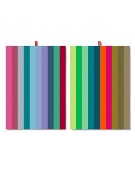 Remember theedoek - set 2 stuks - colour stripes TR19