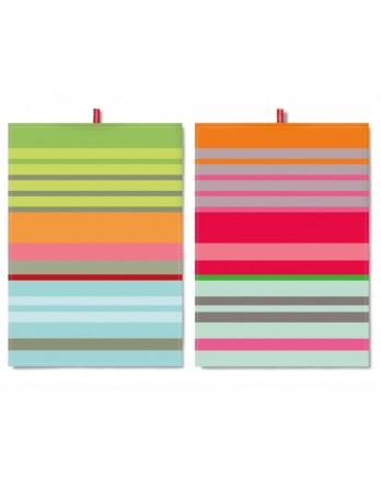 Remember theedoek - set 2 stuks - colour stripes TR16