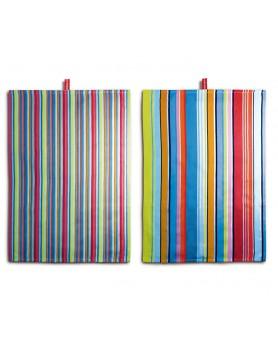 Remember theedoek set 2 stuks 70 x 50 - colorino TR01