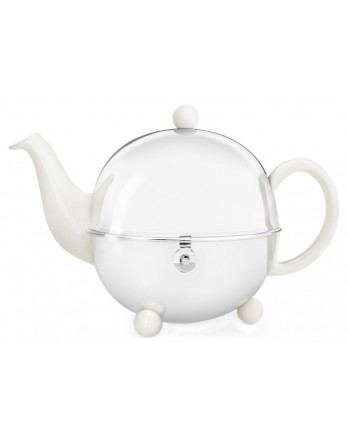 Bredemeijer Cosy theepot creme wit 0.9L dubbelw.