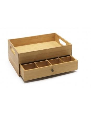 Bredemeijer theedoos met tray flexibele indeling