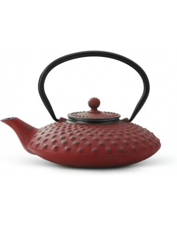 Bredemeijer theepot Xilin gietijzer rood 1.2