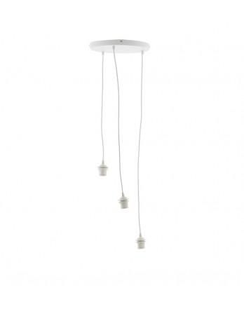 Cotton Ball Lights - Hang drievoudig Deluxe wit