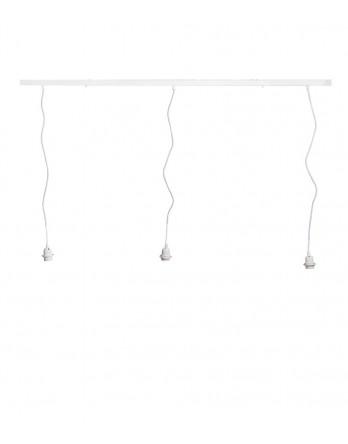 Cotton Ball Lights - Hang drievoudig in lijn Deluxe wit
