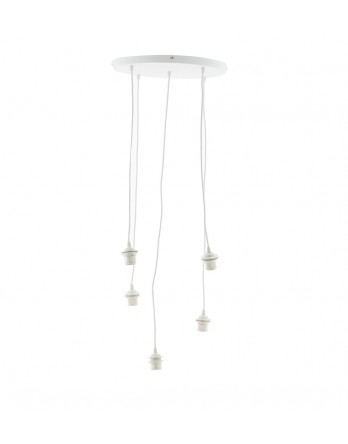 Cotton Ball Lights - Hang vijfvoudig Deluxe wit