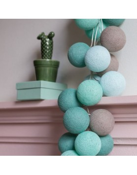 Cotton Ball Lights Lichtslinger Mint  - 3 maten