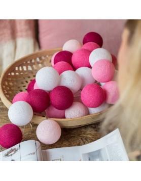 Cotton Ball Lights Lichtslinger Pink