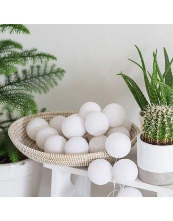 Cotton Ball Lights Lichtslinger Wit - 3 maten