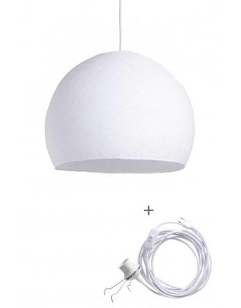 Cotton Ball Lamp Wandering driekwart Wit